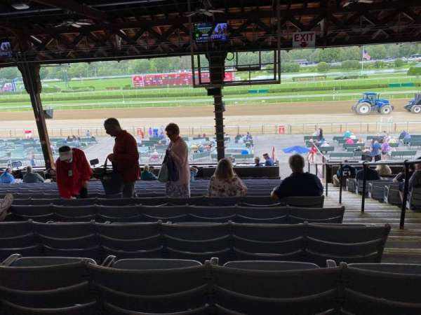 Saratoga Race Course, section: E, row: L, seat: 2