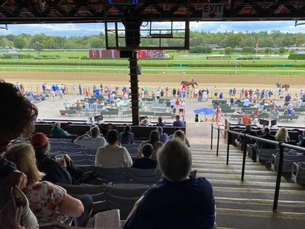 Saratoga Race Course, section: G, row: J, seat: 1