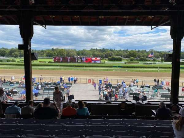 Saratoga Race Course, section: H, row: F, seat: 6