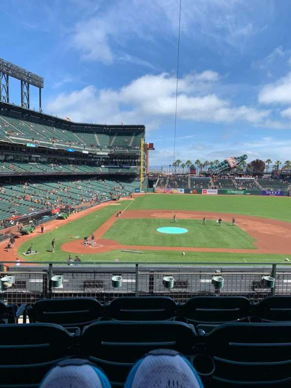 Oracle Park, section: 210, row: D, seat: 5