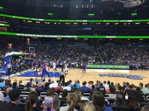 Amway Center, section: 115, row: 7, seat: 9