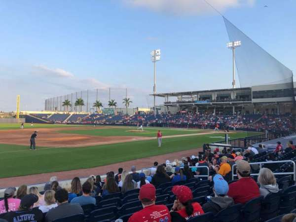 FITTEAM Ballpark of the Palm Beaches, section: 101, row: M, seat: 1