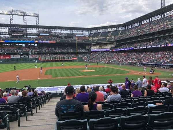 Coors Field, section: 138, row: 23, seat: 11