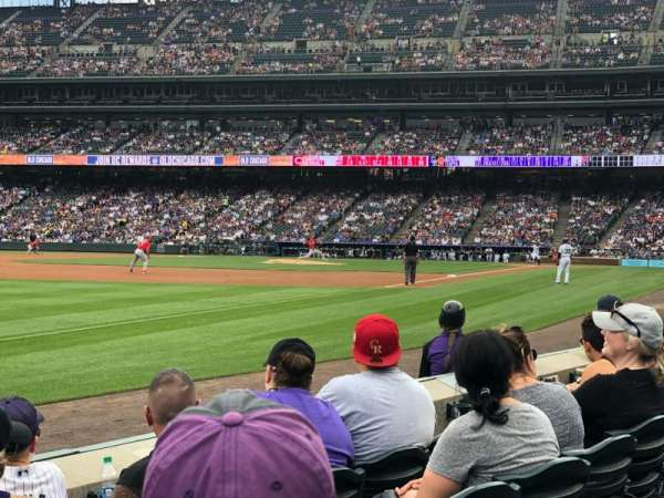 Coors Field, section: 145, row: 4, seat: 11