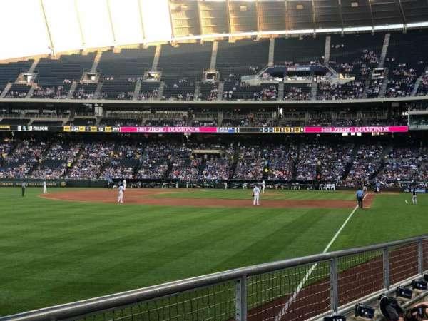 Kauffman Stadium, section: 108, row: J, seat: 14