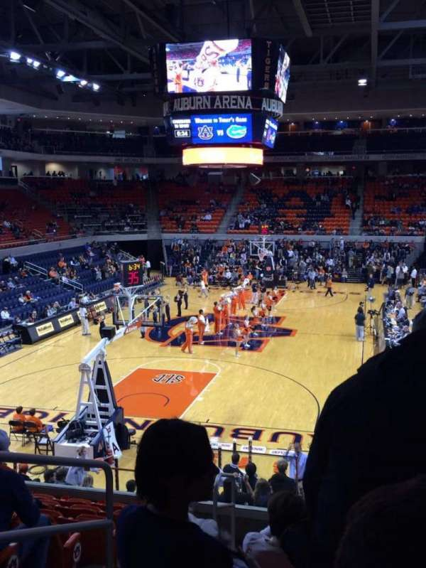 Auburn Arena, section: 108 (Lower Baseline), row: 18, seat: 14