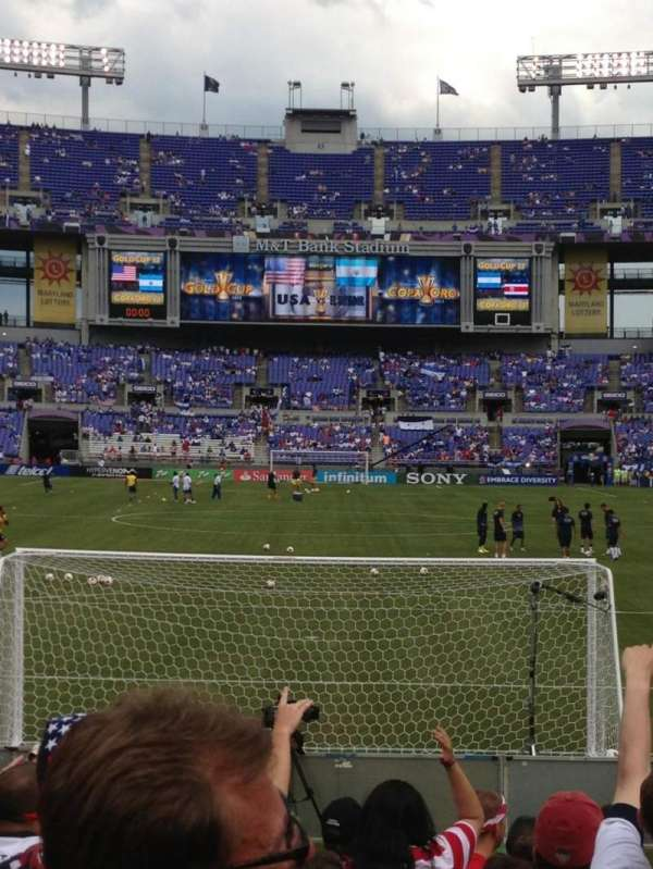 Mt Bank Stadium Section 140 Row 9 Home Of Baltimore Ravens