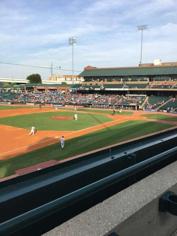 Louisville Slugger Field, section: 223, row: A, seat: 4