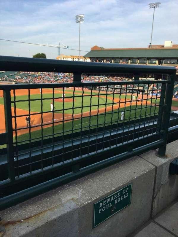 Louisville Slugger Field, section: 223, row: A, seat: 1