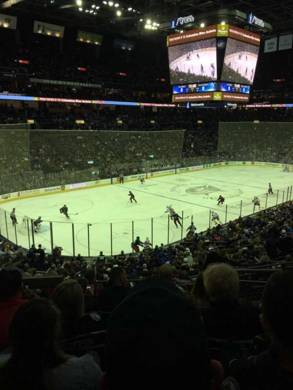 Nationwide Arena, section: 117, row: GG, seat: 4