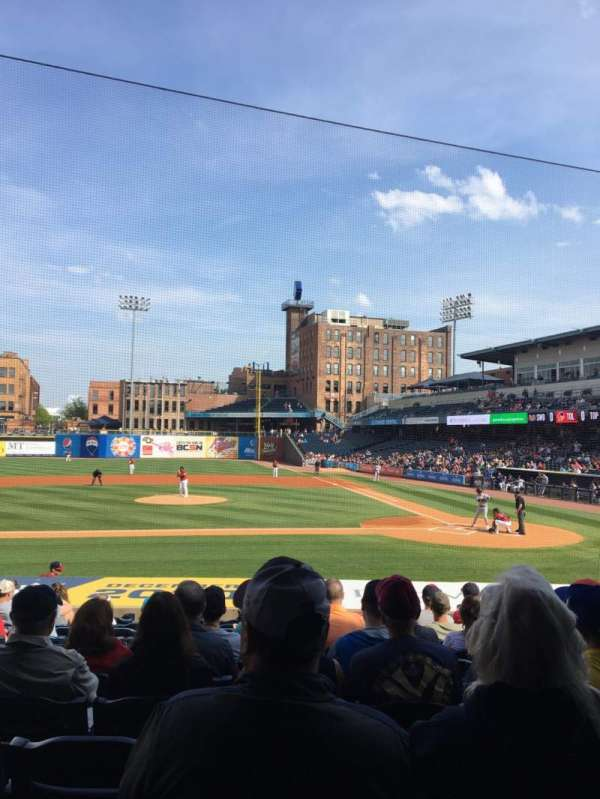 Fifth Third Field, section: 107, row: S, seat: 10