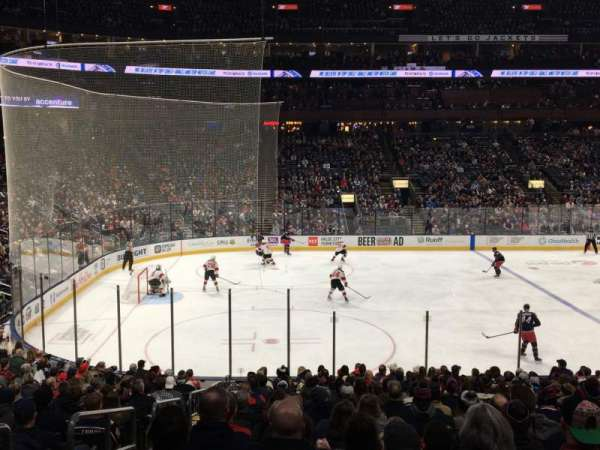 Nationwide Arena, section: 105, row: V, seat: 19