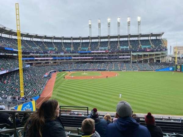 Progressive Field, section: 309, row: G, seat: 22