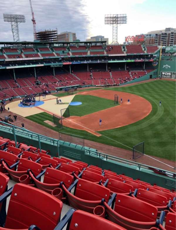 Fenway Park, section: Pavilion reserved 15, row: G
