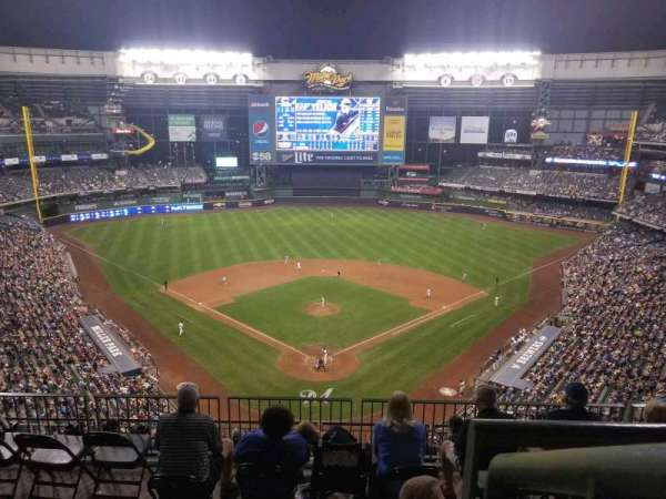 Miller Park, section: 422, row: 9, seat: 13