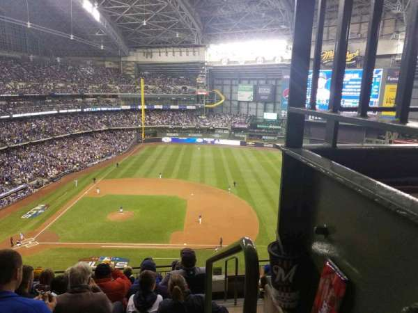 Miller Park, section: 415, row: 7, seat: 18