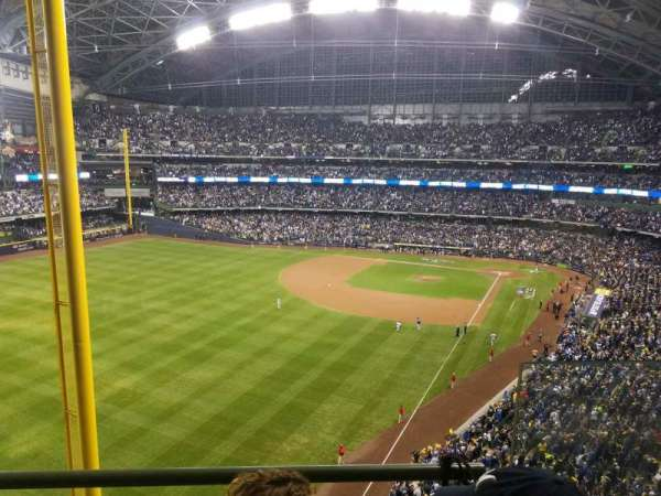 Miller Park, section: 439, row: 2, seat: 3