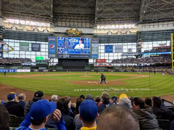 Miller Park, section: 118, row: 7, seat: 9