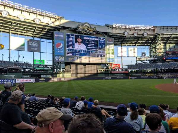 Miller Park, section: 124, row: 9, seat: 13