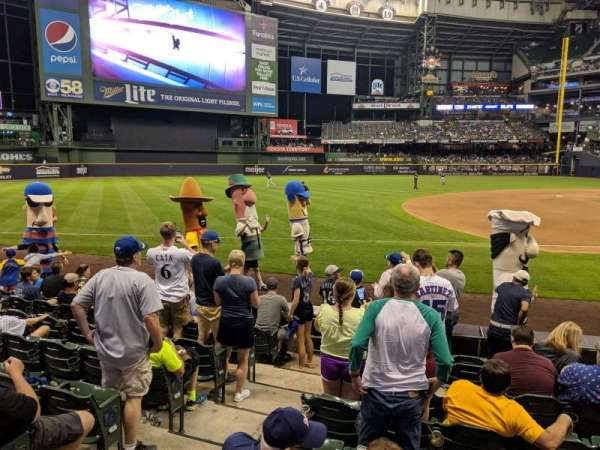 Miller Park, section: 421, row: 9, seat: 13
