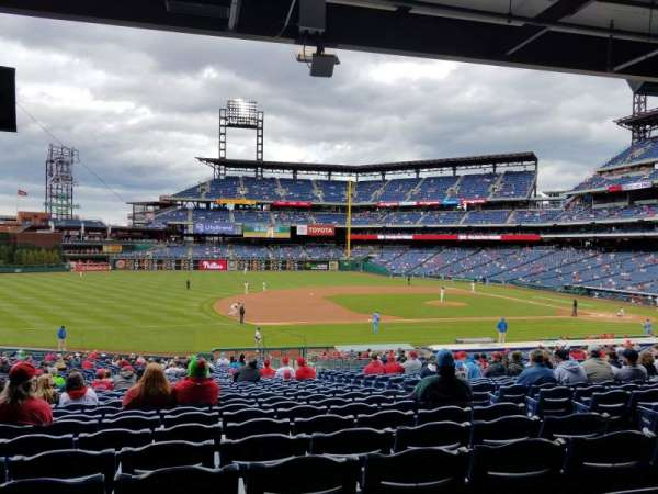 Citizens Bank Park, section: 133, row: 38, seat: 6
