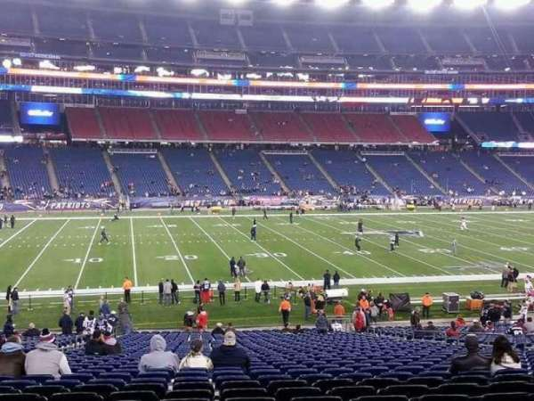 Gillette Stadium, section: 134, row: 29, seat: 16
