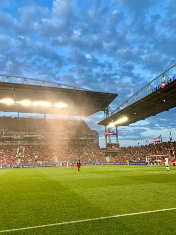 BMO Field, section: FLDSW, row: 2, seat: 44