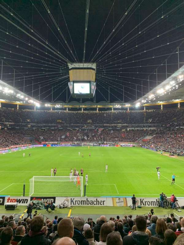 Commerzbank-Arena, section: 16A, row: 18, seat: 12
