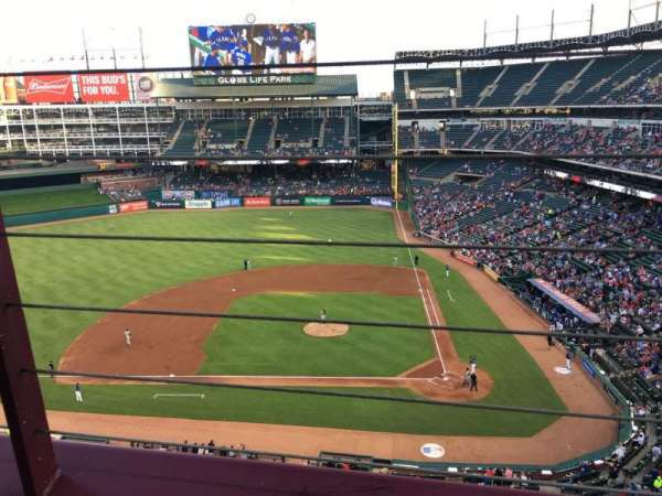 Globe Life Park in Arlington, section: 321, row: 1, seat: 7