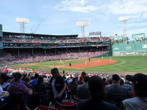 Fenway Park, section: Loge Box 100, row: MM, seat: 1