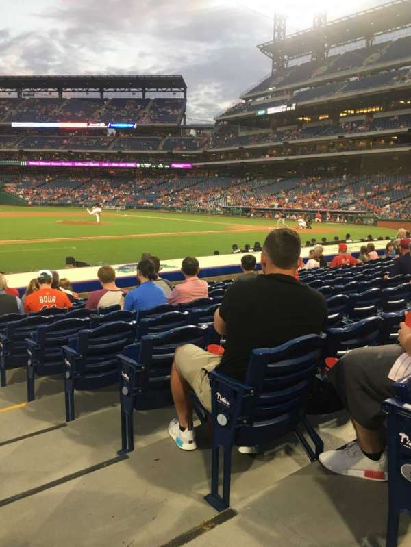 Citizens Bank Park, section: 132, row: 10, seat: 1