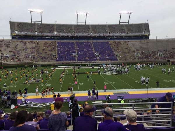 Dowdy-Ficklen Stadium, section: 7, row: U, seat: 6