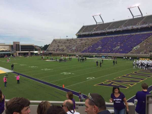 Dowdy-Ficklen Stadium, section: 1, row: L, seat: 1