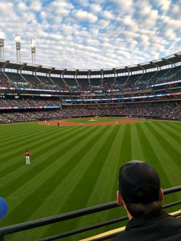 Progressive Field, section: 184, row: B, seat: 15