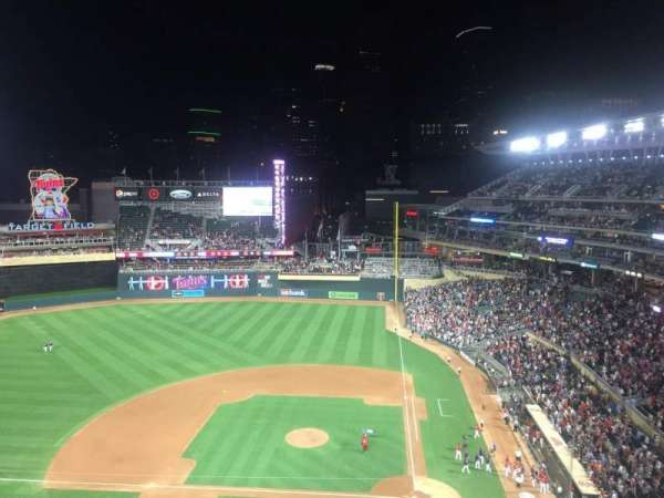 Target Field, section: 319, row: 3, seat: 10