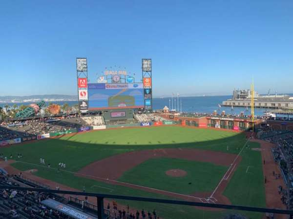Oracle Park, section: VB319, row: B, seat: 2