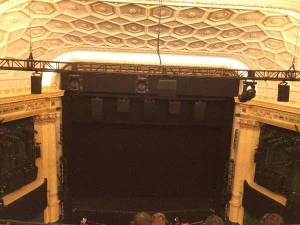 Hudson Theatre, section: Balcony C, row: E, seat: 107