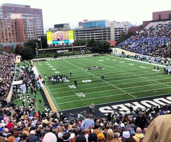 Vanderbilt Stadium, section: J, row: 40, seat: 13
