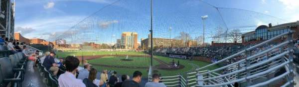 Hawkins Field, section: H, row: 8 (I think)