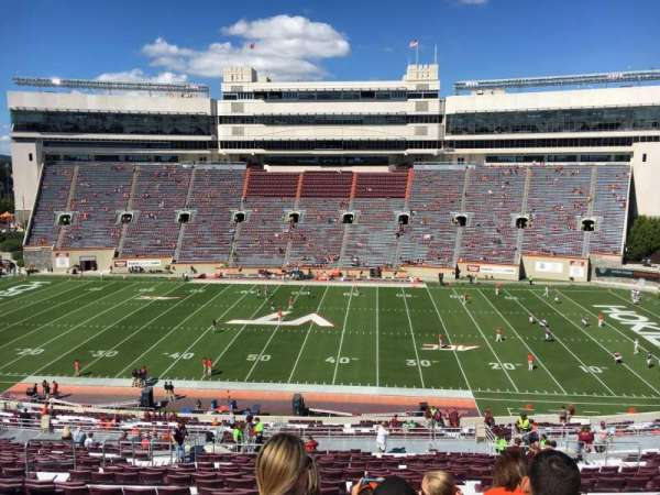 Lane Stadium, section: 9, row: UUU, seat: 24