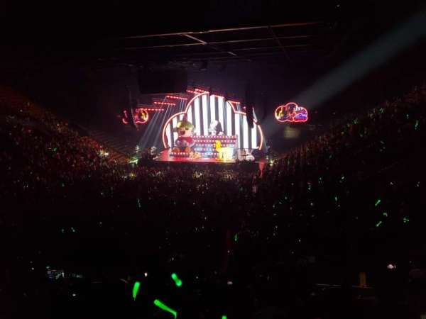 EagleBank Arena, section: 107, row: V, seat: 8