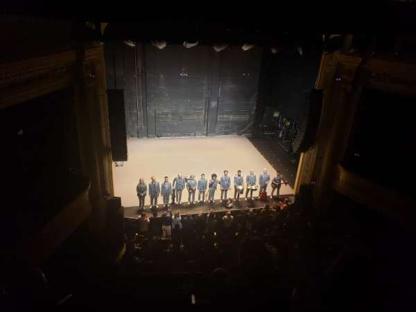 Hudson Theatre, section: Balcony Center, row: D, seat: 101