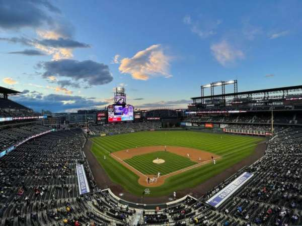 Coors Field, section: L329, row: 1, seat: 14