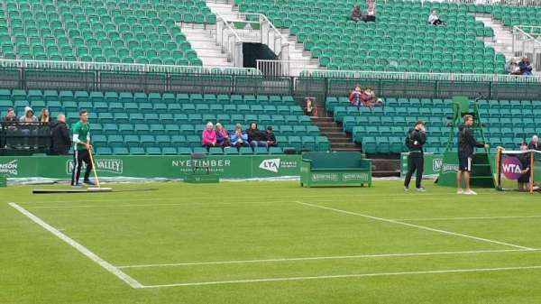 Nottingham Tennis Centre, section: West Stand, row: B, seat: 58