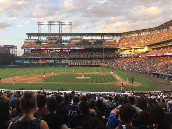 Coors Field, section: 136, row: 30, seat: 8