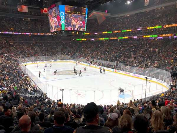 T-Mobile Arena, section: 19, row: W, seat: 17