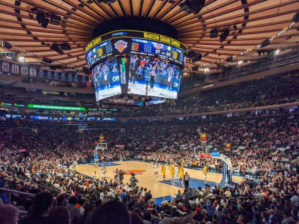 Madison Square Garden, section: 110, row: 10, seat: 8