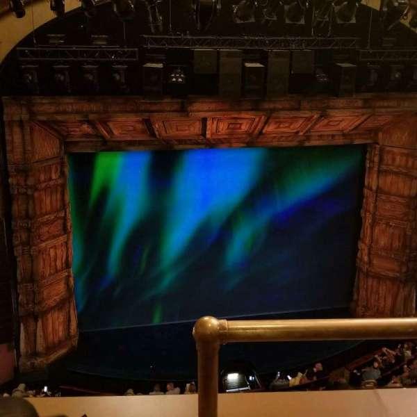 St. James Theatre, section: Balcony, row: B, seat: 1