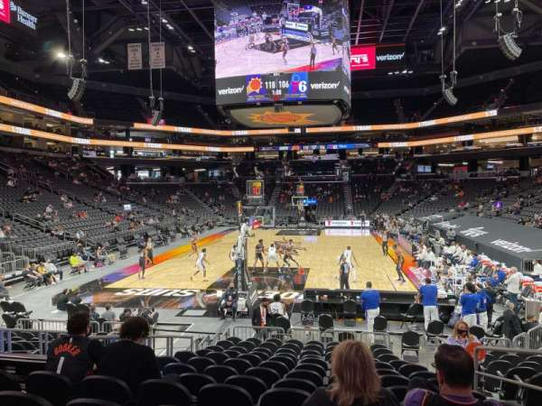 PHX Arena, section: 108, row: 13, seat: 5