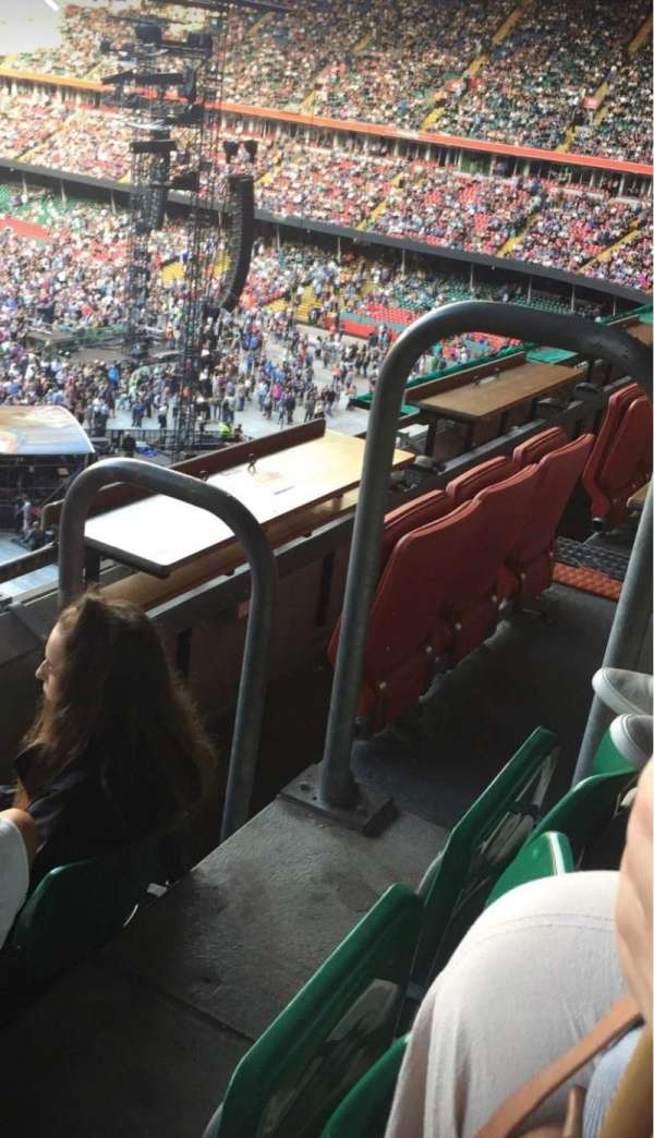 Principality Stadium, section: U31, row: 2, seat: 2